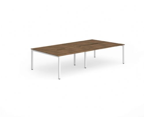 Four Person Back to Back Bench Desk|Various Frames Available. Beech, Light Walnut, White & Oak Top